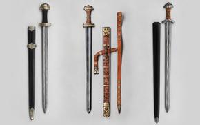Wallpaper Swords, Carolingians, Meroving
