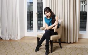 Picture girl, blouse, balcony, Olga Kurylenko, beautiful, Olga Kurylenko