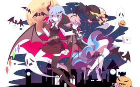 Picture anime, art, Girls, Touhou