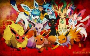 Picture pokemon, cute, evolution Evie, Evie, flareon