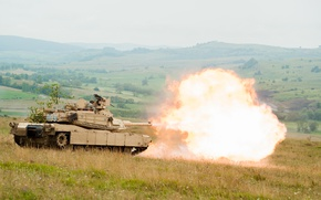 Picture shot, tank, volley, M1A1, armor, Abrams, Abrams