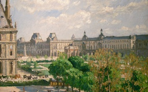 Picture picture, the urban landscape, Camille Pissarro, The Area Of The Sorbonne University. The Tuileries Garden