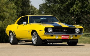 Picture 1969, Yellow, Chevrolet Camaro, Muscle car