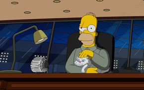 Picture Cat, Homer, Simpsons, Art, Evil, The Simpsons, Homer Simpson, Homer Simpson, Homer, The simpsons, Homer …