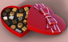 Picture Bombonierka, Heart. Miłosc, Chocolate