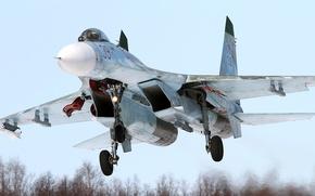 Picture Su-27, Sukhoi, Videoconferencing Russia, Russian multi-role all-weather fighter