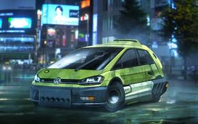 Picture Volkswagen, cinema, Golf, movie, film, Volkswagen Golf, Blade Runner, Blade Runner 2049, Volkswagen Golf Hatchback