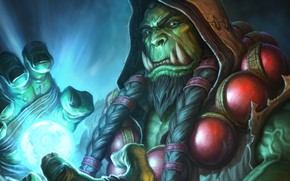 Picture magic, warcraft, wizard, orc