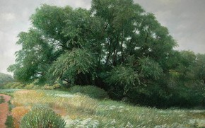 Picture Two thousand nine, path, Aibek Begalin, trees, grass, Spassk