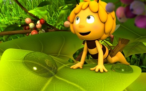 Wallpaper bee, animated film, animated movie, leaf, konoha, Maya the Bee Movie, Maya the Bee