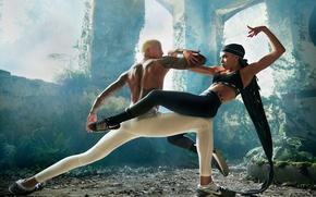 Wallpaper Nike, leggings, tattoo, Tahliah Debrett Barnett, girl, singer, sport, guy, FKA Twigs, pose