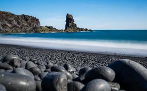 Picture sea, stones, rocks, shore, Iceland