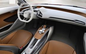 Picture Audi, the wheel, seat, salon, e-tron