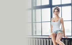 Wallpaper Girl, window, Ani Lorak