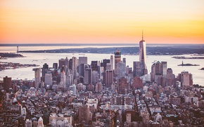 Picture the city, the building, skyscrapers, panorama, megapolis, New York