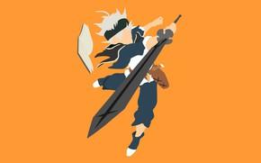 Picture sword, weapon, anime, boy, ken, blade, manga, oni, mahou, japonese, madoshi, Black Clover, Asta, by …