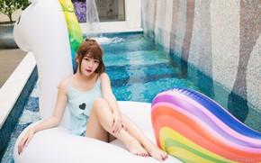 Picture photo, asian girl, cute Asian girl, FEI, Please Please