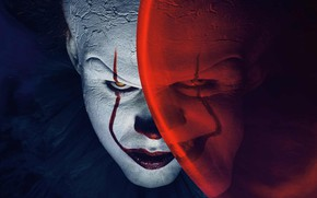 Picture eyes, evil, Penny, hair, smile, white, Red, red, Pennywise, blue, cracked, Grimm, ball, evil, cute, ...