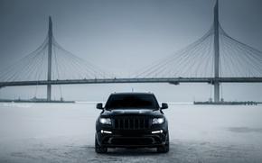 Picture car, machine, auto, city, car, ice, car, srt, cars, auto, bridge, winter, jeep, grand cherokee, …