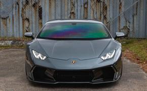 Picture Lamborghini, Predator, Front, Gray, Huracan, Sight, LED