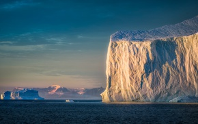 Wallpaper sea, nature, ice, morning, iceberg