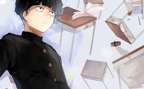 Picture anime, art, guy, school, Mob Psycho 100, Kageyama Shigeo