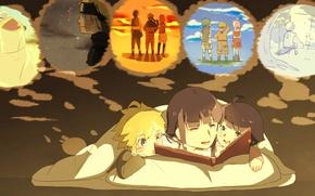 Picture anime, manga, Naruto Shippuden, Hyuuga Hinata, Uzumaki Naruto, Uzumaki Naruto, Himawari Uzumaki