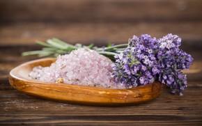 Picture flowers, lavender, sea salt