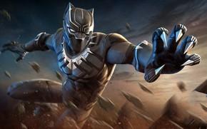 Picture black, mask, art, costume, claws, superhero, Marvel, comic, Black Panther, Black Panther