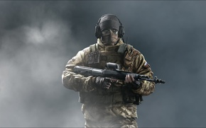 Picture sniper, special forces, Russian