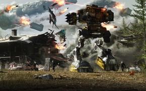 Picture weapons, robot, destruction, laser, Unconventional Warfare