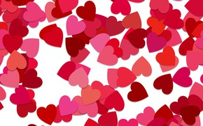 Picture vector, texture, abstract, hearts, heart, background, pattern, random, seamless