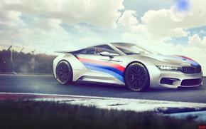 Picture Auto, Figure, White, BMW, Machine, Background, Car, Art, Rendering, BMW i8, Yasid Design, Yasid Oozeear, …