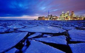 Picture ice, Canada, Ontario, Toronto, harbour