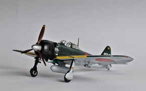 Picture toy, Mitsubishi, carrier-based fighter, model, A6M Zero