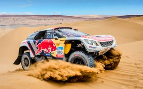Picture Sand, Sport, Speed, Race, Peugeot, Lights, Red Bull, Rally, Rally, Sport, 100, Dune, DKR, 3008, …