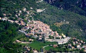 Picture landscape, home, France, mountains, Clan, village