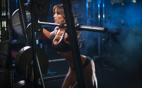 Wallpaper model, pose, female, workout, gym