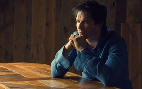 Picture look, ring, actor, profile, shirt, Ian Somerhalder, Ian Somerhalder