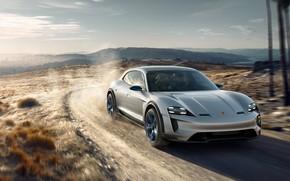 Picture Concept, Porsche, the roads, 2018, Mission E, Cross Turismo