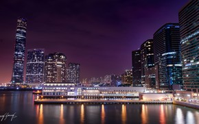 Picture the city, lights, panorama, building night