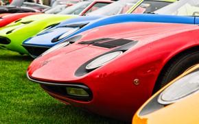 Picture Red, Color, Auto, Yellow, Blue, Lamborghini, Machine, Classic, Orange, 1971, Lights, Car, A lot, 1967, …