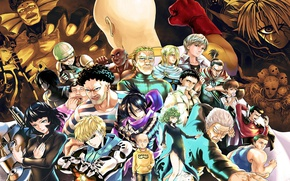 Picture anime, man, evil, asian, manga, japanese, oriental, asiatic, powerful, strong, muscular, One Punch Man, OPM