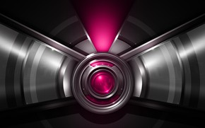 Picture metal, mesh, round, symmetry, bombast pink