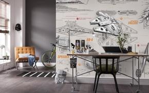 Picture design, interior, living room