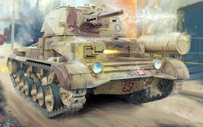 Wallpaper A10, British cruiser tank, Mk II, Tank Cruiser Mk.II