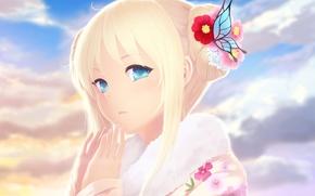 Picture girl, face, anime, barrette, art, boku wa tomodachi ga sukunai, kashiwazaki sena, cait