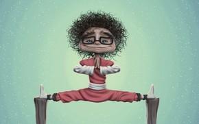 Picture mood, sport, art, twine, stretching, Iris Charcoal 3d Aritst, Iris ..