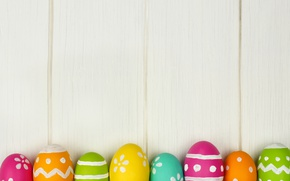 Picture eggs, colorful, Easter, happy, wood, spring, Easter, eggs, holiday