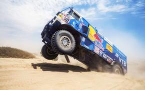 Wallpaper Sand, Wheel, Sport, Speed, Truck, Race, Master, Russia, Kamaz, Rally, Dakar, KAMAZ-master, Dakar, Rally, KAMAZ, ...